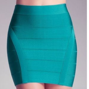 Bebe Bandage Mini Skirt